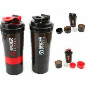 Gym Sport 500ml Shaker Bottle Protein Powder Drink Plastic Blender Mixer Cup