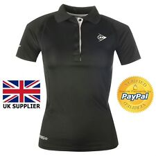 Dunlop Performance Polo Ladies Top Sport Cycling Activewear £24.99 Black UK 12