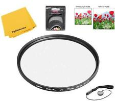 Bower 77mm UV Lens Filter for Canon EF 17-40 f/4L, EF 400mm f/5.6L, EF-S 10-22mm