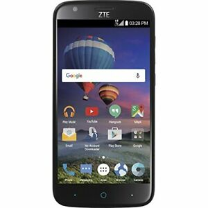 "New, Total Wireless ZTE ZMAX Champ 4G LTE Prepaid Smartphone w/ Huge 5.5"" Screen"