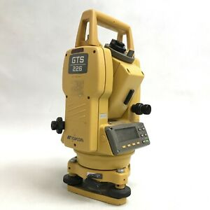 Topcon GTS 226 Total Station Surveying Equipment Heavy Duty Waterproof 023144