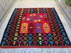 Vintage Handmade Moroccan Wool Rug Berber Azilal Carpet Beni ourain Rug 5×5 ft