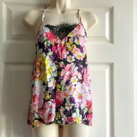 Brand New Parisian Collection Medium Strappy Floral Cami Vest Top Flattering Cut