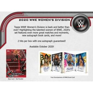 2020 WWE Topps Womans Division Hobby 12 Box CASE SEALED PRE Sale