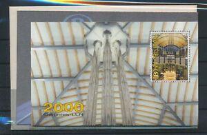 [G11124] Belgium 2000 Railway RARE sheet VF MNH in original cover with telecard