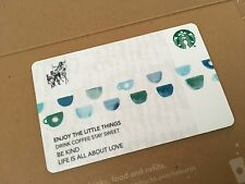 """STARBUCKS GIFT CARD """"BUSINESS CARD BLUE CUPS """"  No $ Value"""