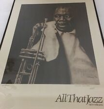 Chuck Ceraso Louie Armstrong All That Jazz SIGNED Print Original Numbered Art