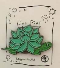 Designed by Olivia - Succulent Turtle - Soft Enamel Pin