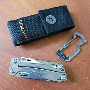 Leatherman Sidekick Multi-Tool - Stainless w/ Nylon Sheath & Carabiner - Knife