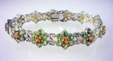 Bracciali di lusso con gemme pietre verde in argento