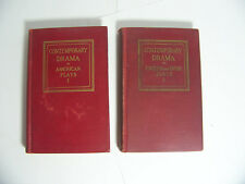 CONTEMPORARY DRAMA AMERICAN PLAYS ENGLISH AND IRISH PLAYS LOT OF TWO BOOKS