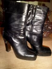 ICONIC FENDI Soft Black Leather Boots  EU 38 UK 5 Gently Worn