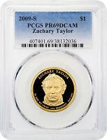 2009-S Zachary Taylor Presidential Dollar PCGS PR69 DCAM