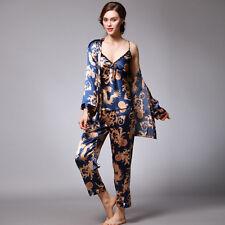 Luxurious Ladies Womens Set of 3 Oriental Golden Dragons Pyjama Pajama ladpj119