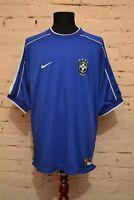 VINTAGE BRAZIL 1997/1998 AWAY FOOTBALL SHIRT SOCCER JERSEY CAMISETA MENS XL NIKE
