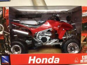 HONDA TRX 450 R RED 450 RACE QUAD ATV DIE CAST MODEL - TOY , 1:12 SCALE