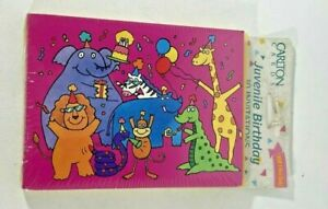 NIP NEW Zoo Party Animals 10 pack Invitations and Envelopes by Carlton Cards NOS