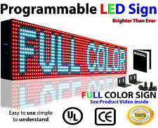 "FULL COLOR LED SIGN 6""x25""PROGRAMMABLE TEXT LOGO VIDEO GRAPHIC Screen OUTDOOR"