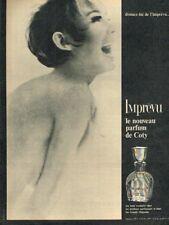 K- Publicité Advertising 1965 Parfum Imprévu de Coty