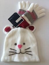 West Loop Girls Kitten? Mouse? Hat and Glove Set Lined One Size Fits All