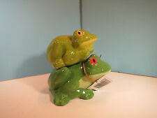 SALT & PEPPER SHAKERS-Mwah-Getting Froggity- Frogs- By Westland-New In Box
