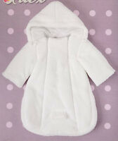 Baby Newborn Snowsuit Footmuff Pramsuit All in One White Blue PinK Grey 0-3-6 m