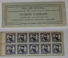 ( 110 ) Dieci chiudilettera 50° Anniversario della Morte di Giuseppe Garibaldi