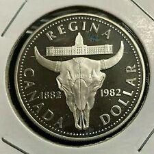 Uncirculated Type BU Canada 1982 SILVER Dollar .500 Fine