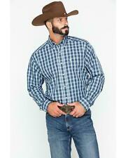 Ariat Men's Blue Zender Plaid Shirt - 10024189