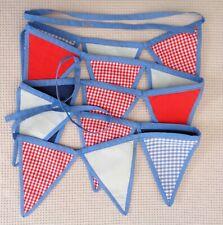 LAURA ASHLEY Boys Fabric Nursery Bedroom Bunting 15 Flags/Pennants Decoration