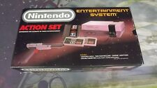 NES Action Set Complete in Box Gray Gun 1st Edition Gold Seal