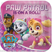 PAW PATROL Girls Hero Rescue Pups Birthday Party Tableware Plates Cups Napkins