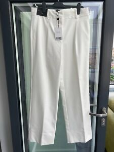NEXT EMMA WILLIS COLLECTION CREAM TAILORED TROUSERS UK 12R BRAND NEW WITH TAGS!