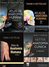 3ª, 4ª, 5ª, 6ª Edición Frank Netter Atlas de Anatomia Humana Español Libros PDF