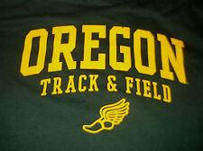 University of Oregon Ducks Track & Field T Shirt Sz Large L 100% Cotton