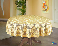 """Round LaceTablecloths Golden Beige Wedding Table Ø 59"""" Table Covers Tea cloth"""