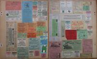 Vintage Ticket Collection: Railroad/Bus/Trolley/Transportation/Greyhound- 59 PCS