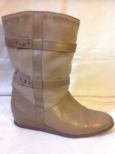 Ladies Brown Ankle Leather Boots Size 39