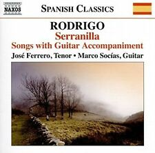 RODRIGO: SERRANILLA - SONGS WITH GUITAR ACCOMPANIMENT USED - VERY GOOD CD