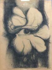 Cuban art. Painting by Luis Martinez Pedro. El Ojo de mi Gertrud,1986. Signed