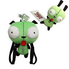 Set of 2 Alien Invader Zim Robot Gir 3D Eye Plush Doll Backpack Bag Xmas Gift