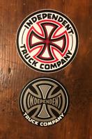 2 INDEPENDENT trucks - 80s & 90s vtg Skateboard sticker  (Santa Cruz   Powell )