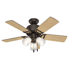 Hunter 51105 Reversible 42 Inch Prim Ceiling Fan with Pull Chain Control, Bronze