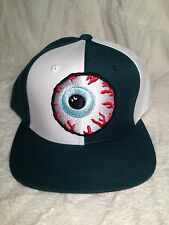 100% AUTHENTIC MISHKA KEEP WATCH SNAP BACK HAT (GREEN & WHITE)