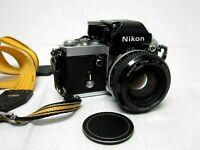 1977 NIKON F2 35mm SLR CAMERA 785XXXX JAPAN with 55mm 1:1.2 LENS