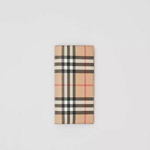 Authentic Burberry Vintage Check E-canvas Continental Men's Wallet Archive Beige