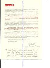 Foglio di propaganda della penna Aurora Duo -Cart-1954