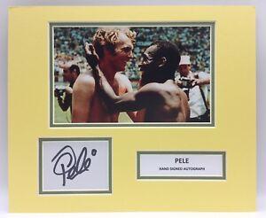 RARE Pele Brazil Signed Photo Display + COA + PROOF AUTOGRAPH WORLD CUP SASIGNED