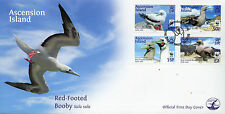 Ascension Island 2016 FDC Red-Footed Booby WWF 4v Set Cover Birds Boobies