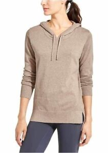 ATHLETA Winding River Hoodie Sweater, NWOT, Large, Foxtail Taupe